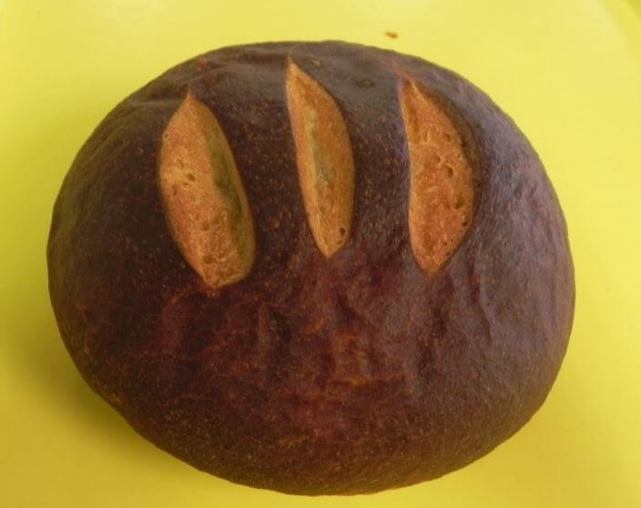 This is an Image of Marble Rye Bread From Chop n Pops Bakery in Nevis MN